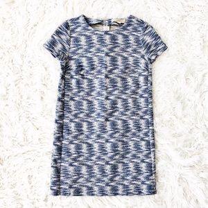Loft textured cotton shift dress